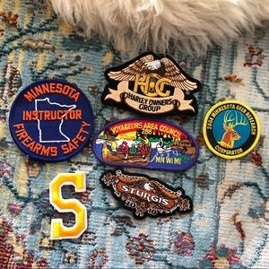 Lot of 6 Unused Patches